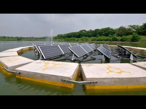 Floating solar power plant: interview with Vivek Jha