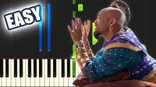 Prince Ali - Aladdin (Will Smith) | EASY PIANO TUTORIAL by Betacustic