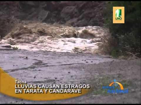 Tacna: Huayco desabastece de agua a Tarata y Candarave