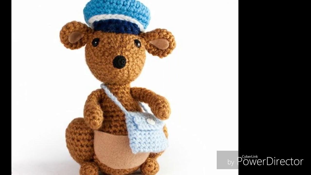 Mama Kangaroo Amigurumi Crochet Pattern | 720x1280
