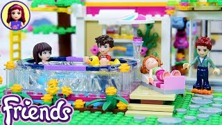 Custom Lego Friends Backyard with Pool - Sophie & Henry House Renovations Continue DIY