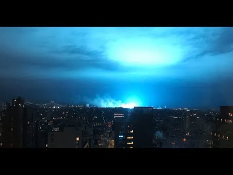 ufo over new york city causes transformers to explode youtube