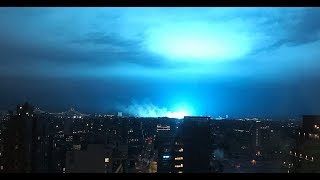 UFO Over New York City Causes Transformers To Explode