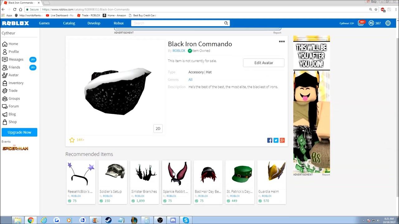 BLACK IRON COMMANDO WENT LIMITED!! Roblox Presidents Day