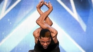 Repeat youtube video Britain's Got Talent 2015 S09E06 Junior AKA Bonetics Contortionist Dance Routine Makes You Cringe