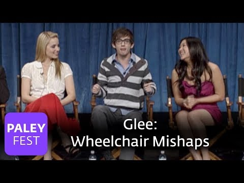 Glee - Wheelchair Mishaps: Amber Riley, Kevin McHale (Paley Interview)