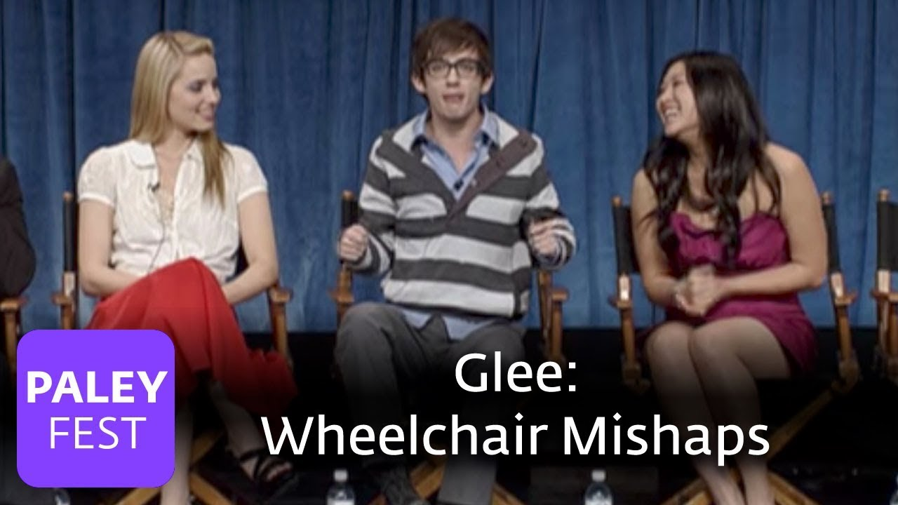 Wheelchair Glee Cheap Plastic Adirondack Chairs Mishaps Amber Riley Kevin Mchale Youtube