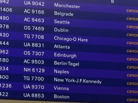 Raw: Lufthansa Cancels Flights Amid Strike