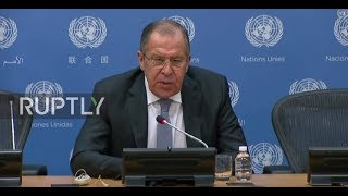 UN: Lavrov brands new US defence strategy 'confrontational'