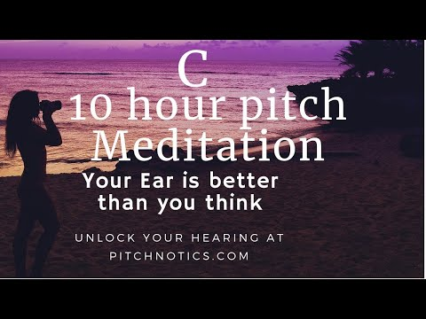 Pitchnotics 10 hours of C (Pitch Memory Sleep meditation)