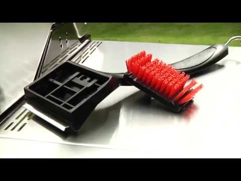 A better way to clean your grill with the Standard Nylon Brush from Char-Broil