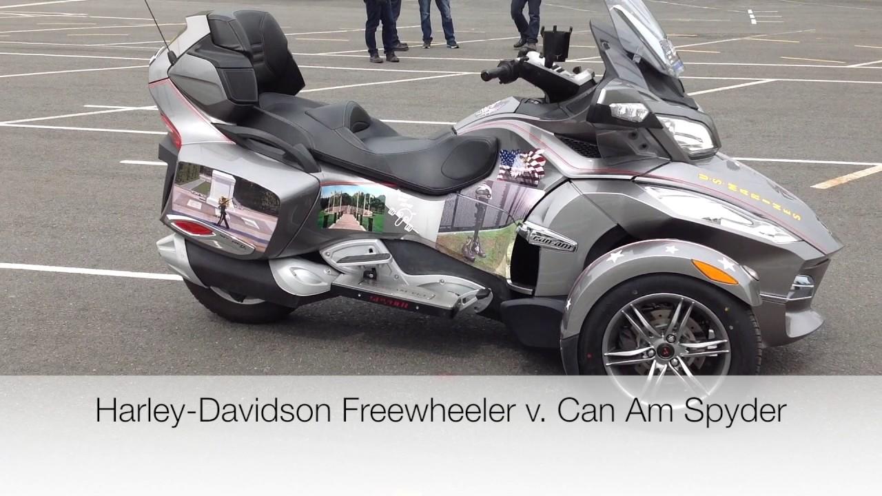 Harley davidson freewheeler versus the can am spyder
