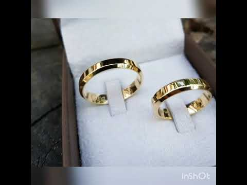 Wedding Rings Couple Rings Simple And Beautiful Engagement Rings Diamond Gold Youtube