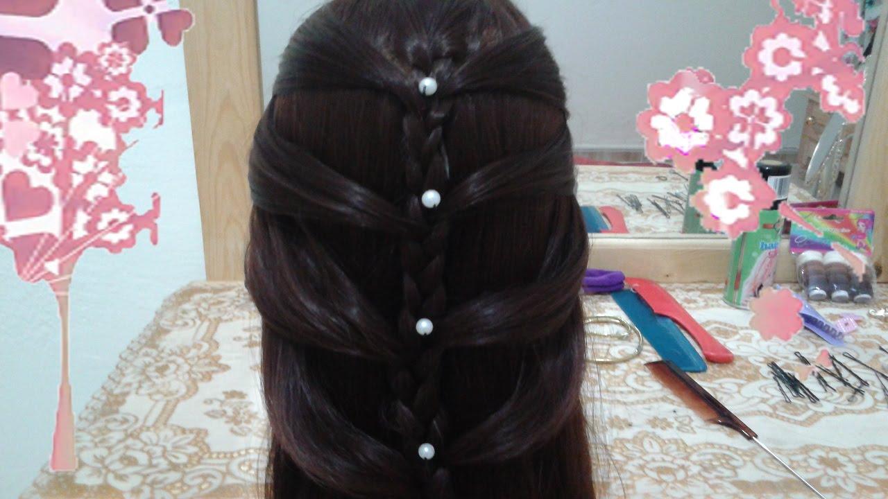 peinados faciles rapidos y bonitos con trenzas de moda para nia en cabello largo y mediano youtube