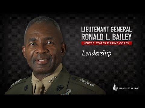 Lieutenant General Ronald Bailey (USMC) on Leadership