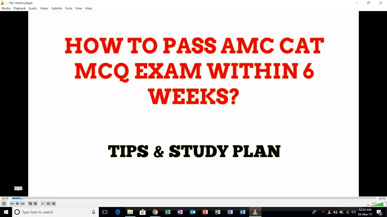 How to pass AMC CAT MCQ exam withing 6 weeks by AMC EXAM