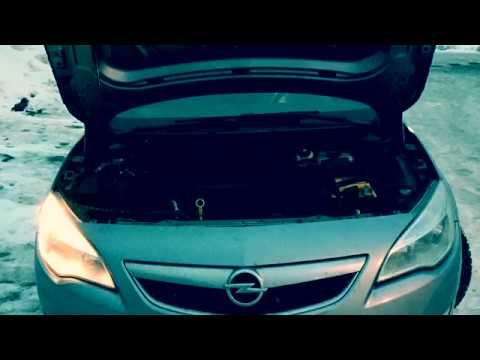 Замена ламп ДХО.Opel  Astra j