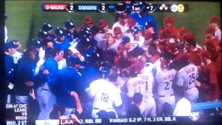 Los Angeles Dodgers Vs Arizona Diamondbacks Full Brawl (6/11/13)