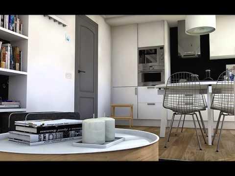 Dise o interior un apartamento en blanco y negro 38 m2 - Disenos de apartamentos ...