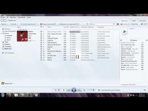 Copiar musica con windows media