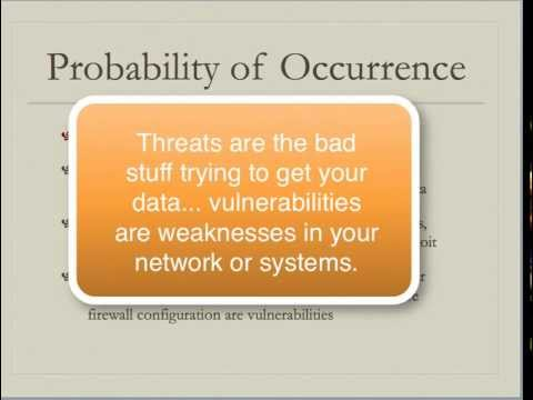 Lecture, Week 1, Intro to Information Assurance and Security
