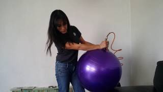 Como inflar una pelota de yoga o pilates