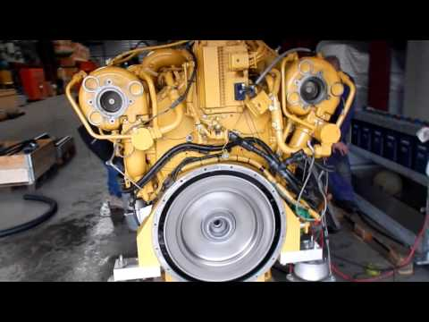 Caterpillar C32 Marinesel Engine Trial Run At Vimo