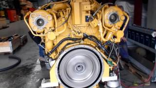 Caterpillar C32 marine diesel engine trial run at Vimo Trading