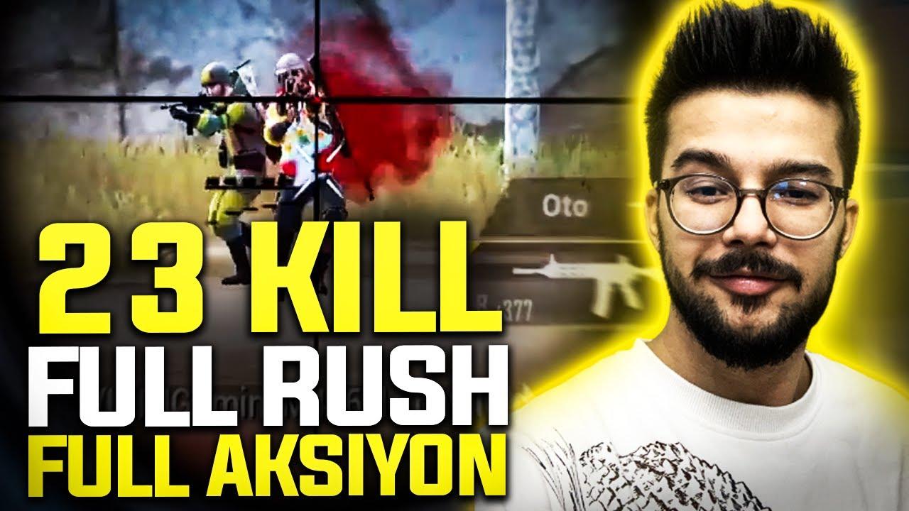 Selamlar Youtube   23 Leş!! Full Rush Full Aksiyon!! İlk Video   Pubg Mobile One Man Squad