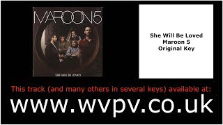She Will Be Loved by Maroon 5 (Piano Backing Track) (Karaoke) (Singing Study)