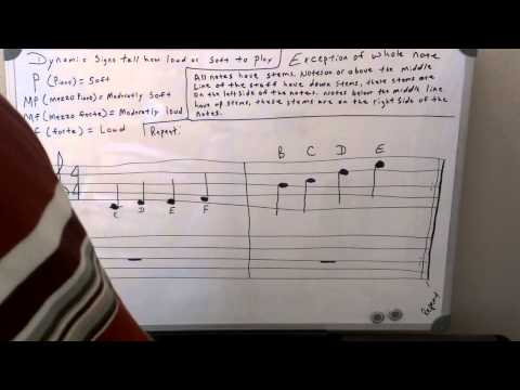 Piano Theory: Dynamic Signs, Note Stems, and Repeat Sign - Music Theory