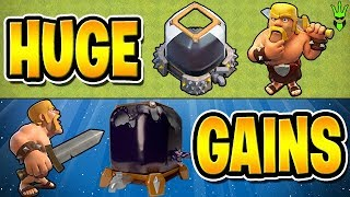 "HUGE DARK ELIXIR GAINS FOR HERO UPGRADES! - Free to Play TH10 - ""Clash of Clans"""