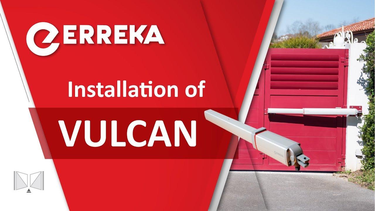 Hydraulic operator for swing gate vulcan erreka youtube