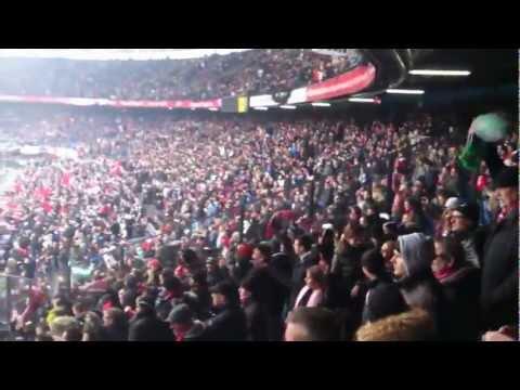 Musica allo stadio di Rotterdam - Feyenoord vs PSV