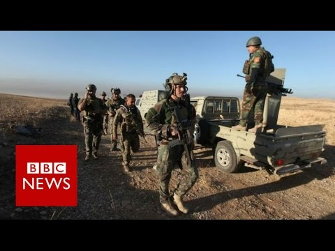 Mosul Offensive: On the frontline with Kurdish forces - BBC News