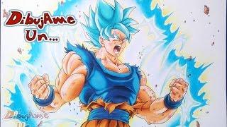 How to draw GOKU ultra super saiyan blue subtitled VS YAIR SASSON ART /TOLG ART /MULA DRAWS