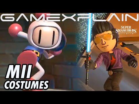 Travis Touchdown & Bomberman Mii Costumes Coming to Smash Ultimate!  (Sakurai Presents)