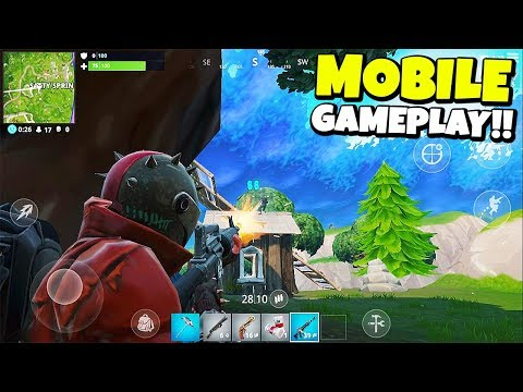 EARLY FORTNITE MOBILE GAMEPLAY! (IT'S HARD)