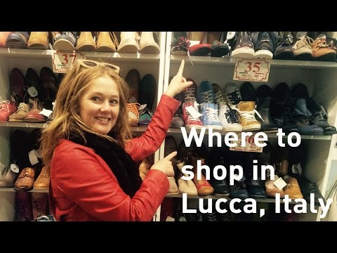 Where to shop in Italy - Lucca - leather shoes & bags, Italian jewellery