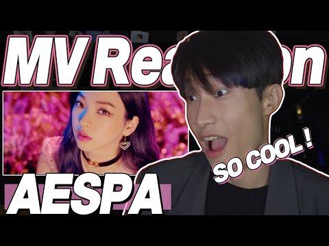 eng) aespa 'Black Mamba' MV Reaction   KPOP 고인물이 보는 에스파 블랙 맘바 뮤직비디오 리액션   J2N VLog
