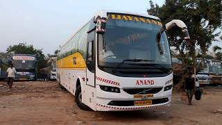 VRL VOLVO B11R ready to rest after a long ride from BANGALORE