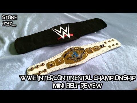 WWE Intercontinental Championship mini belt review