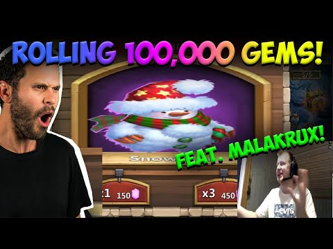 New Way Of Rolling 100,000 Gems For Heroes With Malakrux Castle Clash
