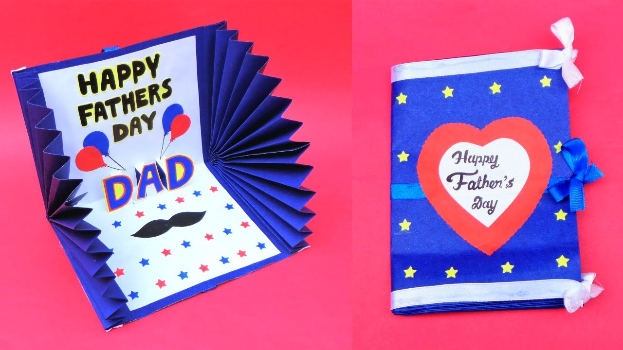 Beautiful Father S Day Card Idea Handmade Greetings Card For Dad Diy Father S Day Pop Up Card Youtube