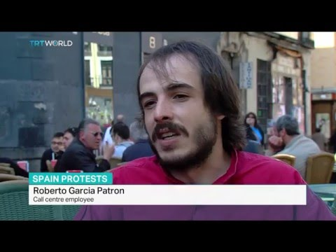 Fifth anniversary of anti-austerity demo movement in Spain, Jaime Velazquez reports