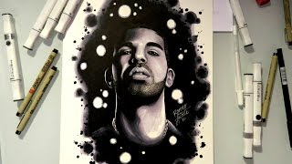 Drake - Hotline Bling (AMAZING SPEED DRAWING)