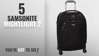 Top 10 Samsonite Mightlight 2 [2018]: Samsonite Mightlight 2 Softside Spinner 21, Black