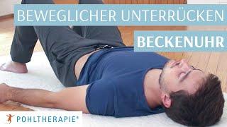 Übung für einen beweglichen unteren Rücken: Die Beckenuhr