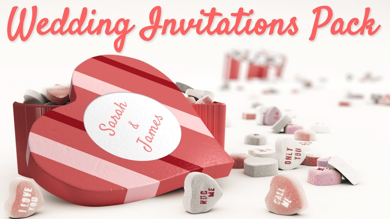 Videohive - Wedding Invitations Pack - YouTube
