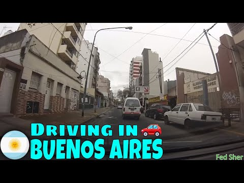Driving in Buenos Aires (from Florida to San Andrés)